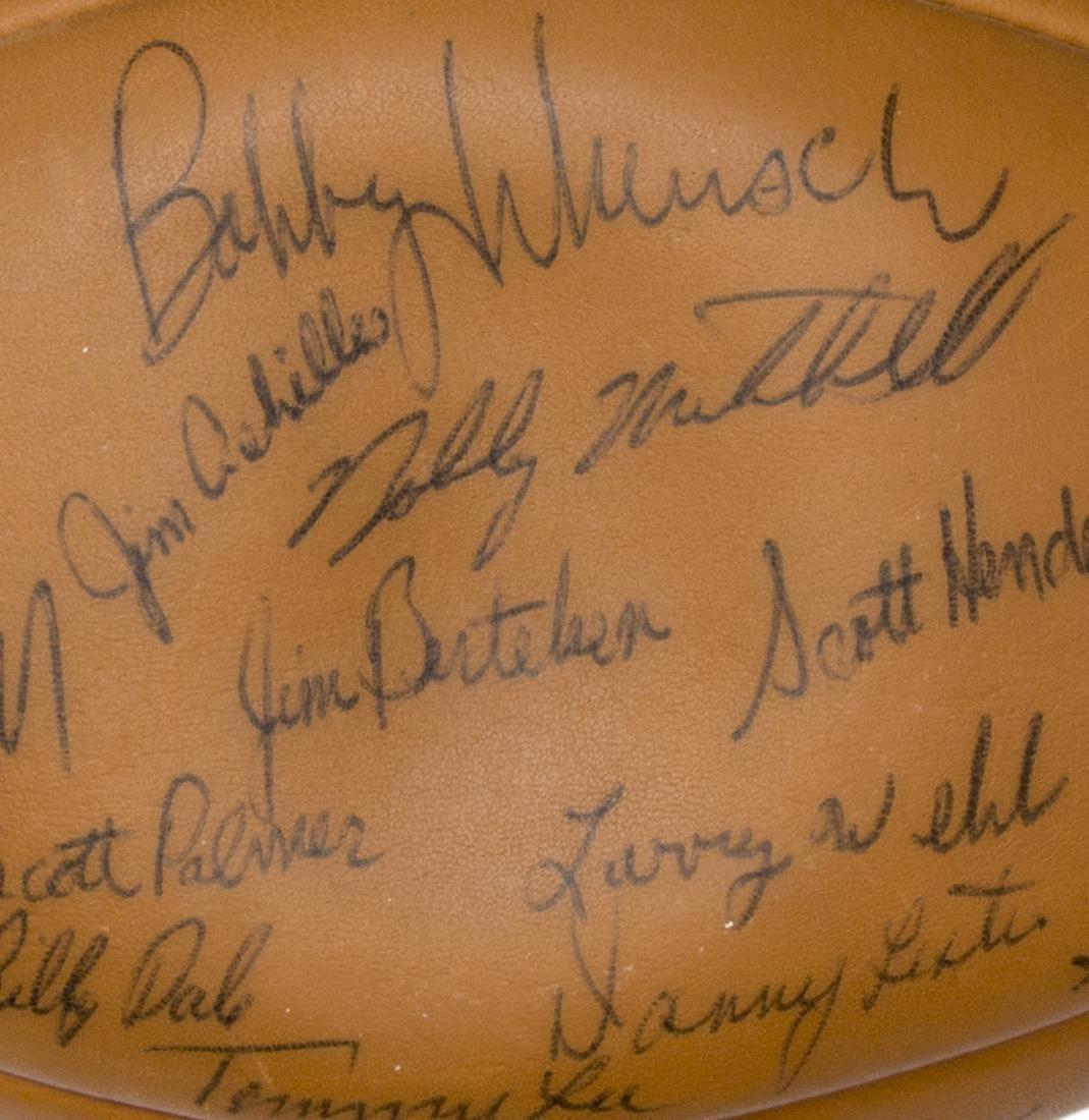 TEXAS LONGHORNS SIGNED 1969 CHAMPS BALL, ROYAL - 5