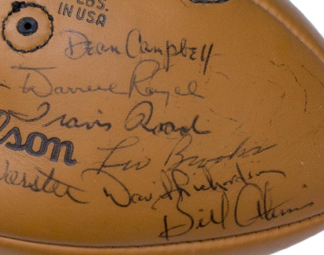 TEXAS LONGHORNS SIGNED 1969 CHAMPS BALL, ROYAL - 7