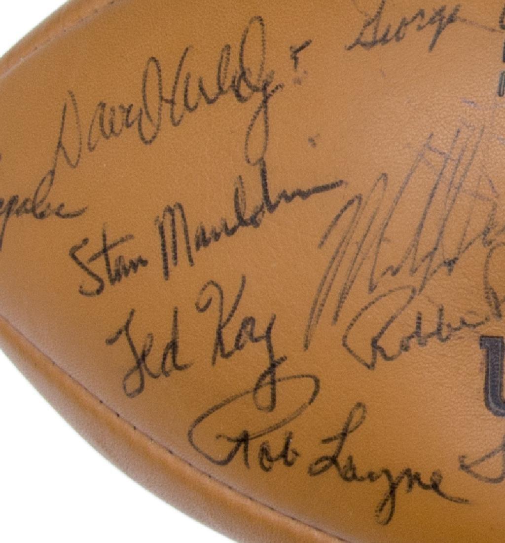 TEXAS LONGHORNS SIGNED 1969 CHAMPS BALL, ROYAL - 8