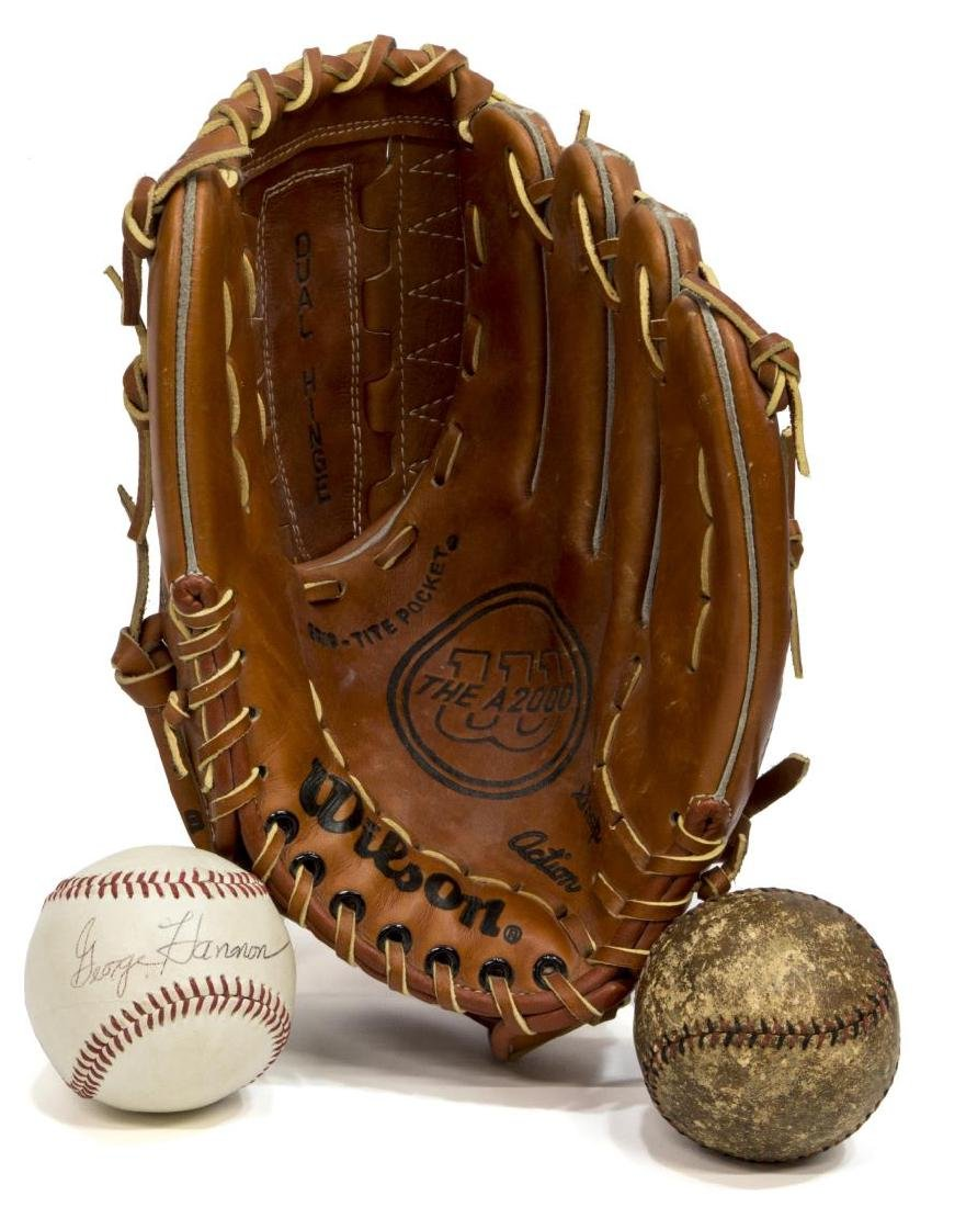 (7) LEATHER BASEBALL & FOOTBALL SPORTING EQUIPMENT - 2