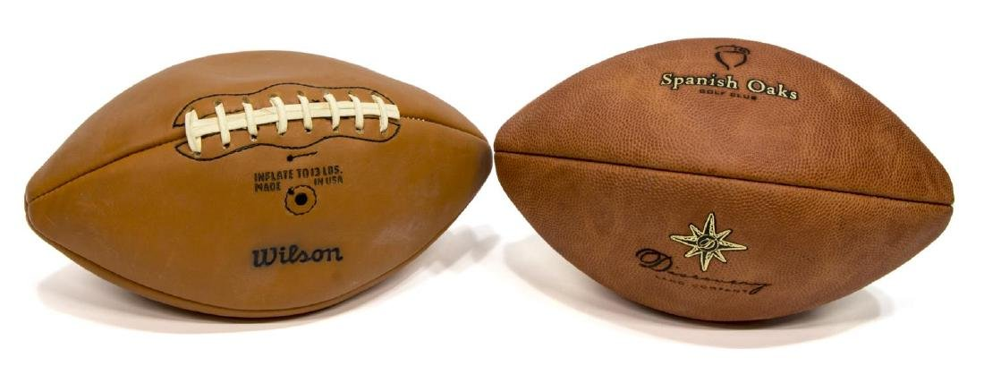 (7) LEATHER BASEBALL & FOOTBALL SPORTING EQUIPMENT - 5