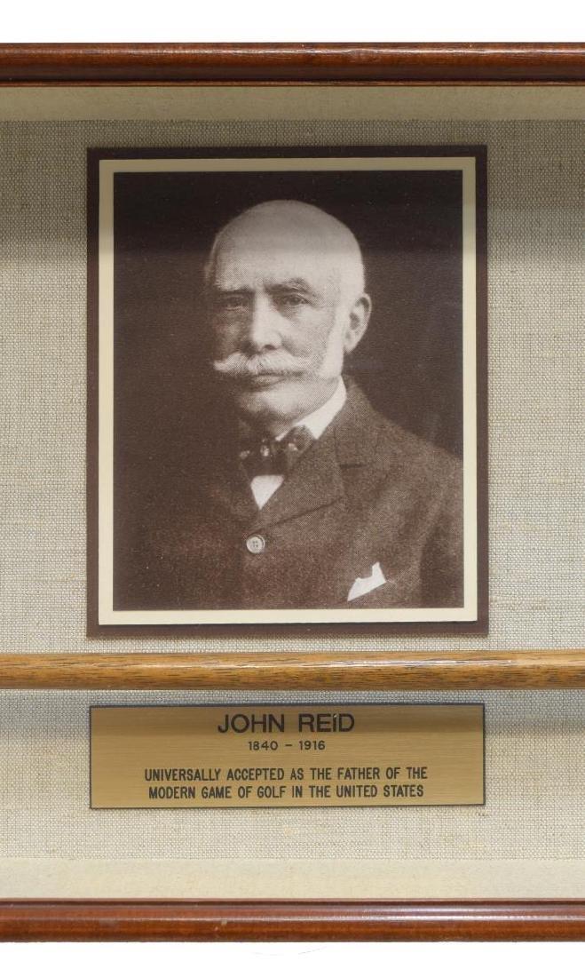 FRAMED JOHN REID (1840-1916) WOOD SHAFT GOLF CLUB - 2
