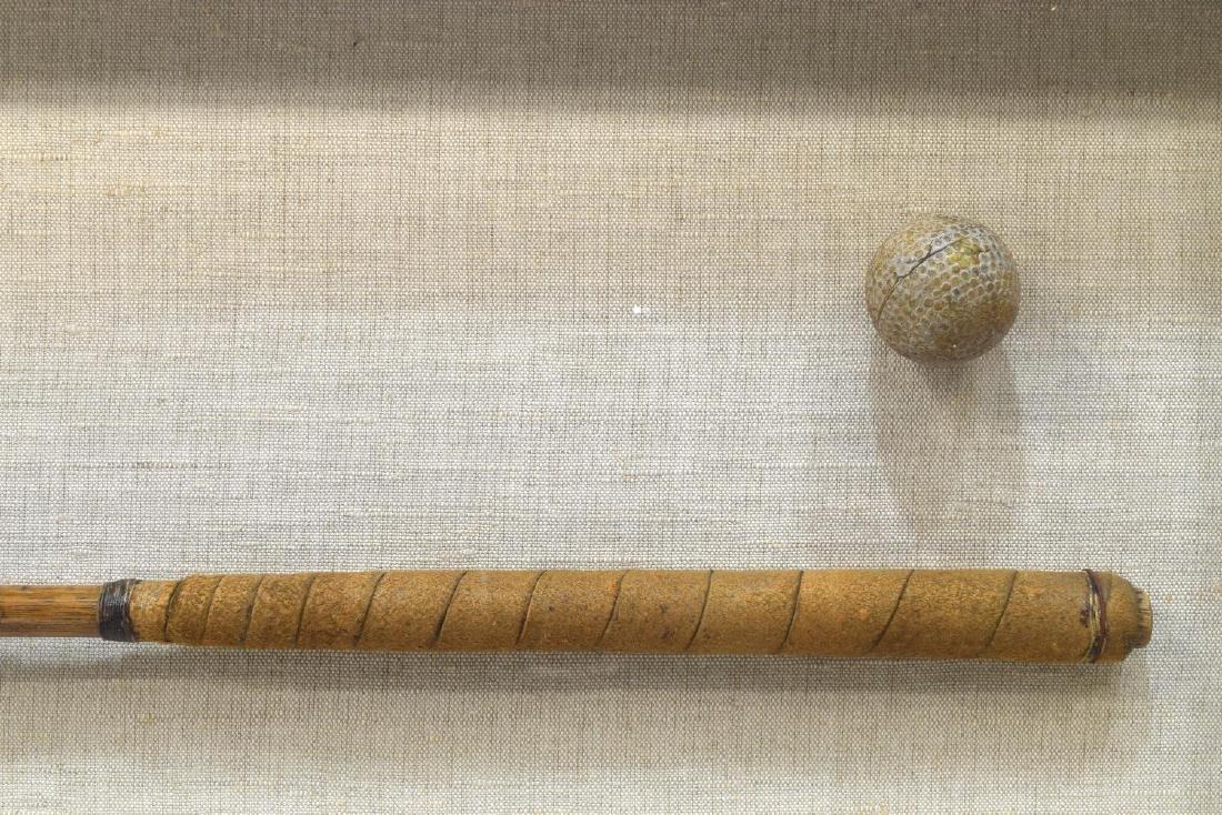FRAMED JOHN REID (1840-1916) WOOD SHAFT GOLF CLUB - 3