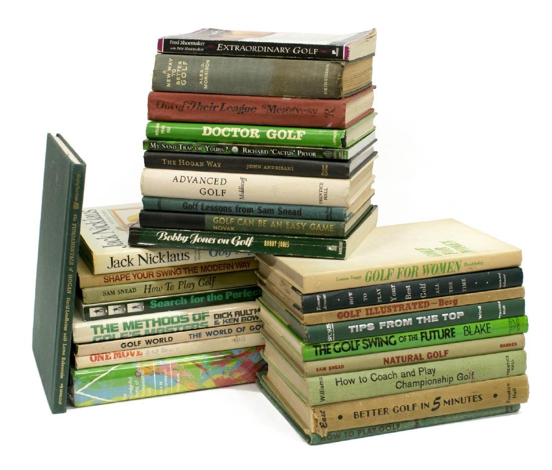 (28) COLLECTION OF GOLF RELATED BOOKS