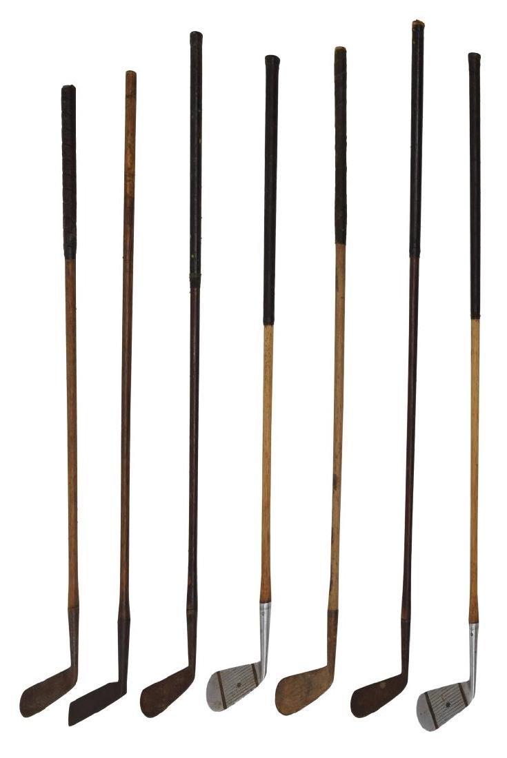 (15) VINTAGE WOOD SHAFT GOLF CLUBS - 2