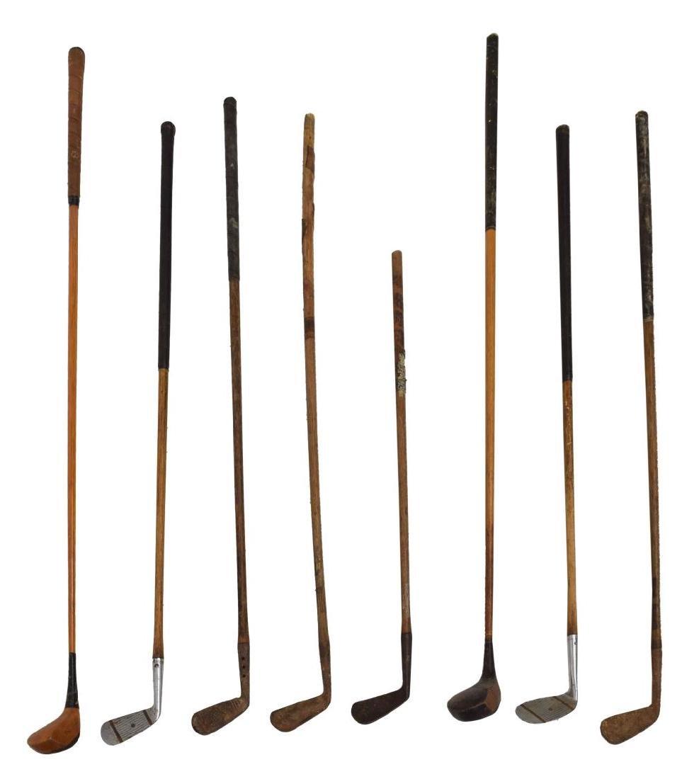 (15) VINTAGE WOOD SHAFT GOLF CLUBS - 4