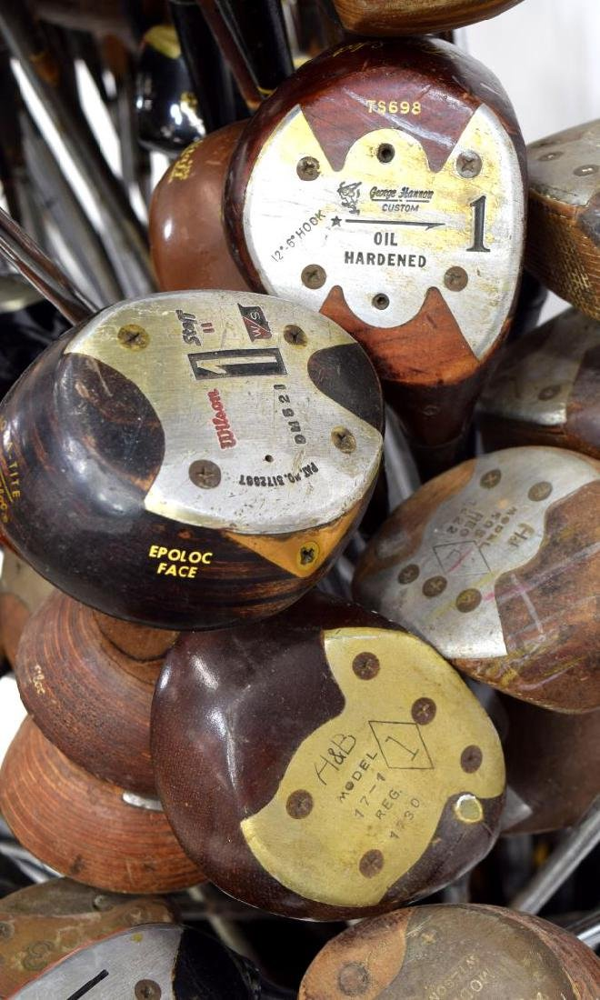 (APPRX. 175) ASSORTED GOLF CLUB IRONS & DRIVERS - 6