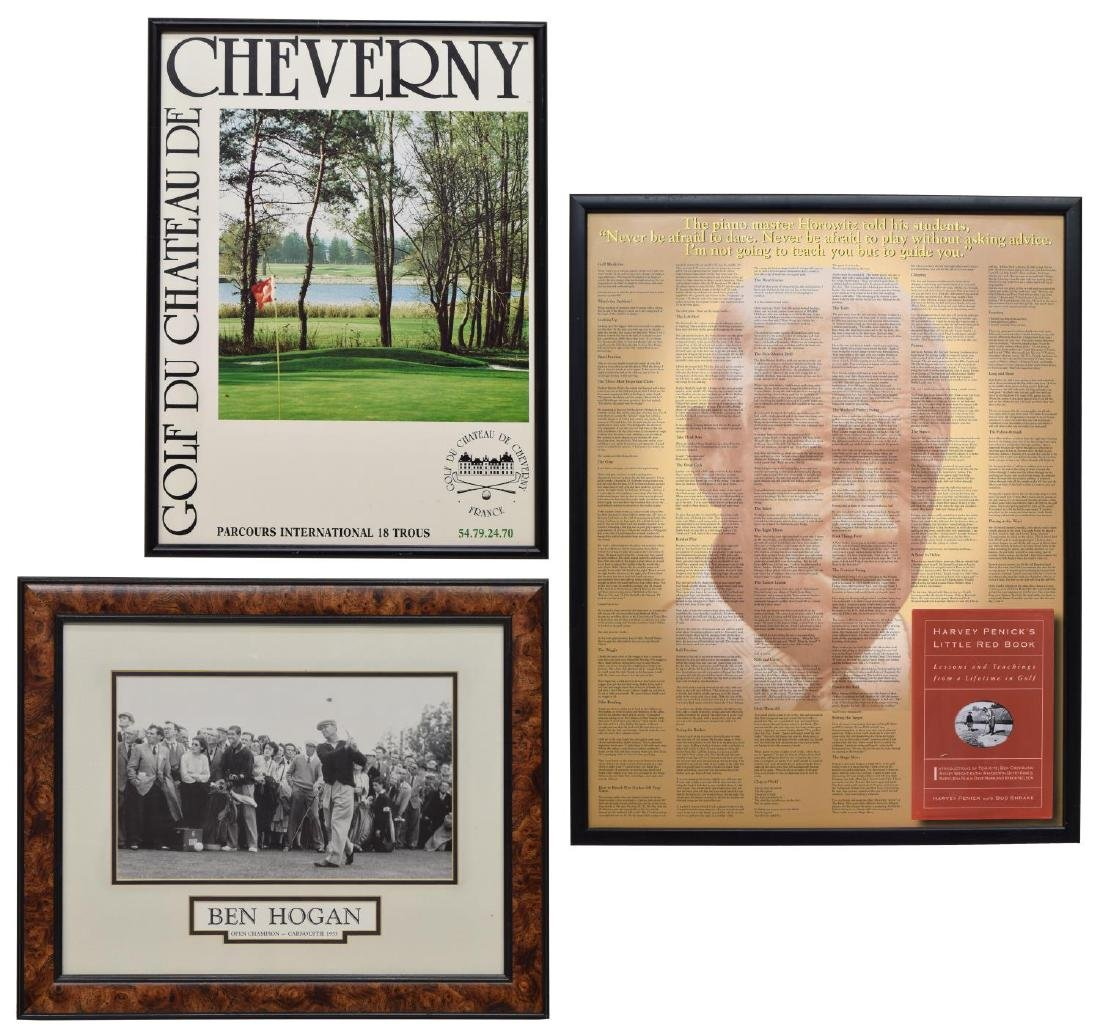 (3) GROUP OF FRAMED WALL ART WITH GOLF SUBJECTS