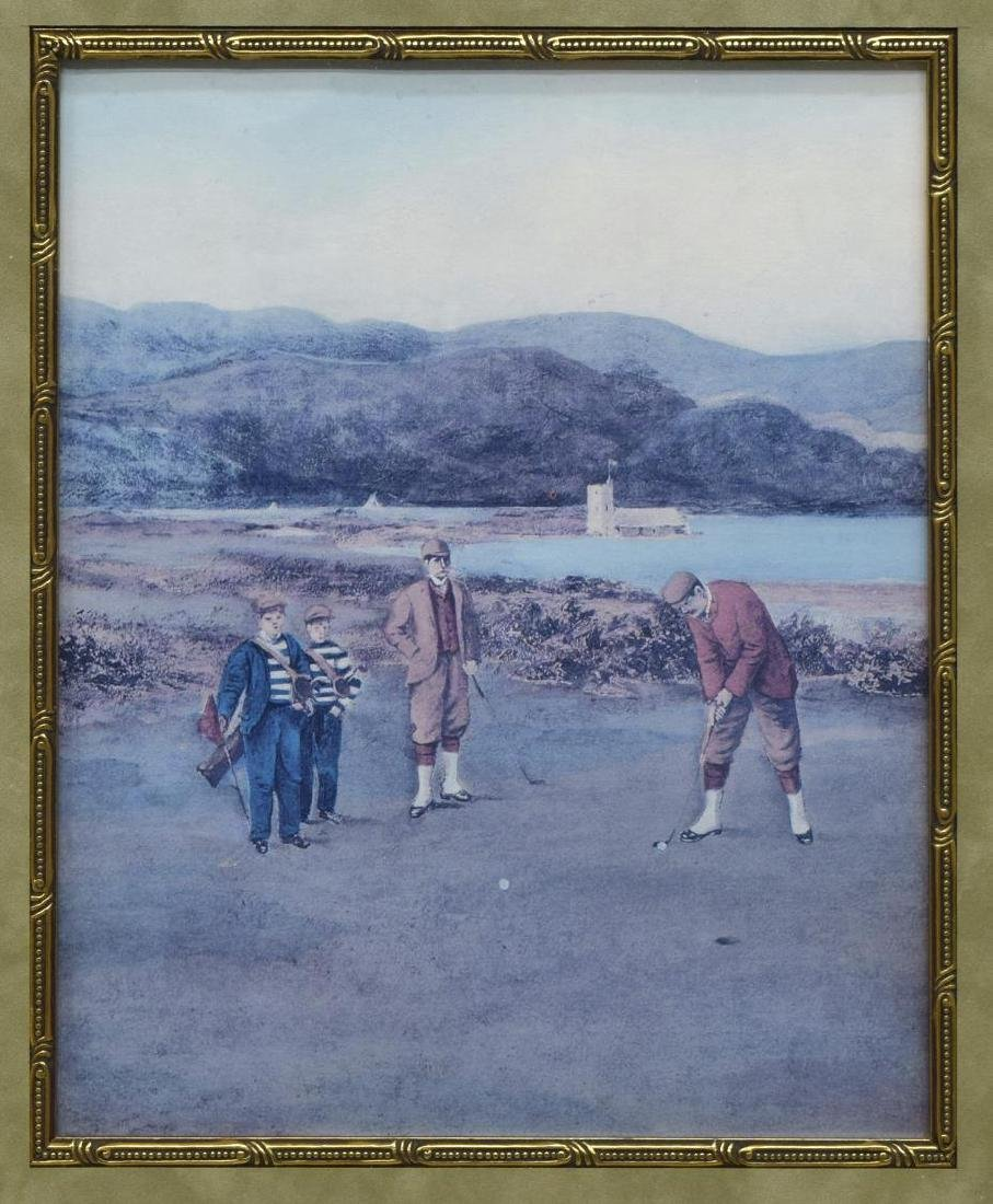(6) FRAMED PRINTS WITH GOLF SUBJECTS - 10