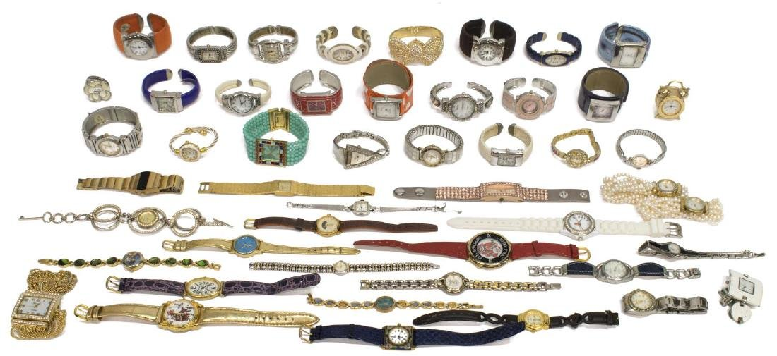 GROUP LADIES FASHION WATCHES, 14KT, UT & OTHERS