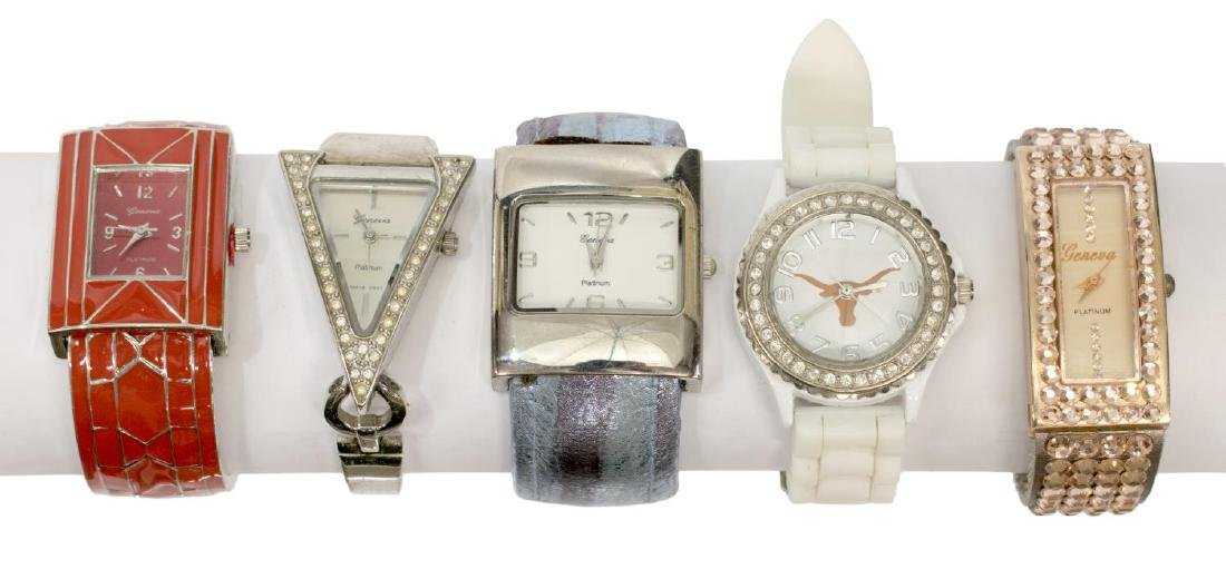 GROUP LADIES FASHION WATCHES, 14KT, UT & OTHERS - 2