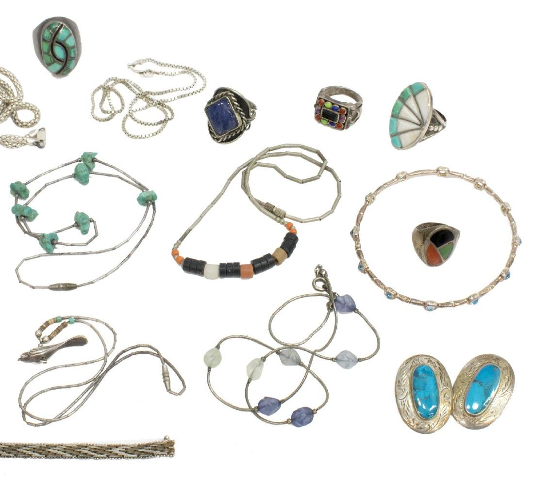 GROUP OF ESTATE STERLING & METAL JEWELRY - 3