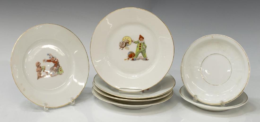 (12) GERMAN PORCELAIN CHILD'S CIRCUS TOY TEA SET - 2