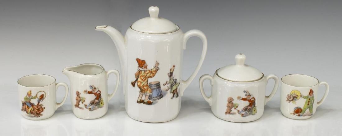 (12) GERMAN PORCELAIN CHILD'S CIRCUS TOY TEA SET - 3