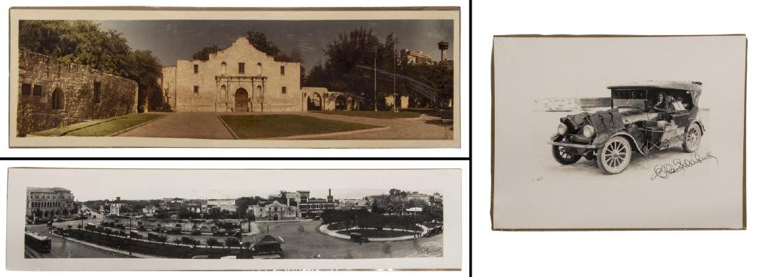 (3)E.O GOLDBECK(1892-1986) SIGNED 1918 ALAMO PLAZA