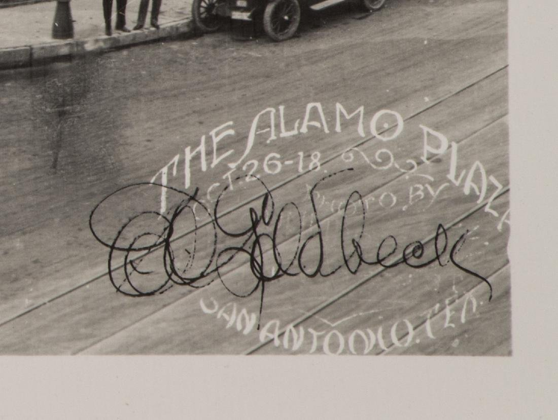 (3)E.O GOLDBECK(1892-1986) SIGNED 1918 ALAMO PLAZA - 6