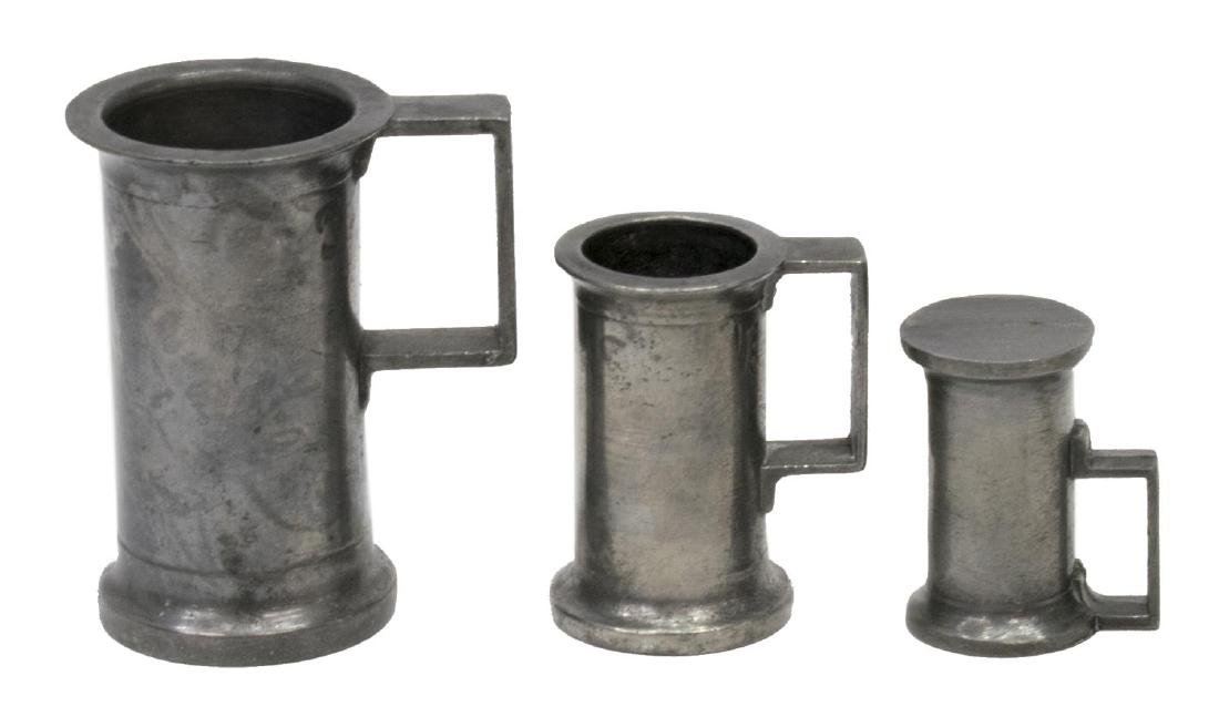 (7) COLLECTION OF ANTIQUE PEWTER TABLE & DRINKWARE - 4