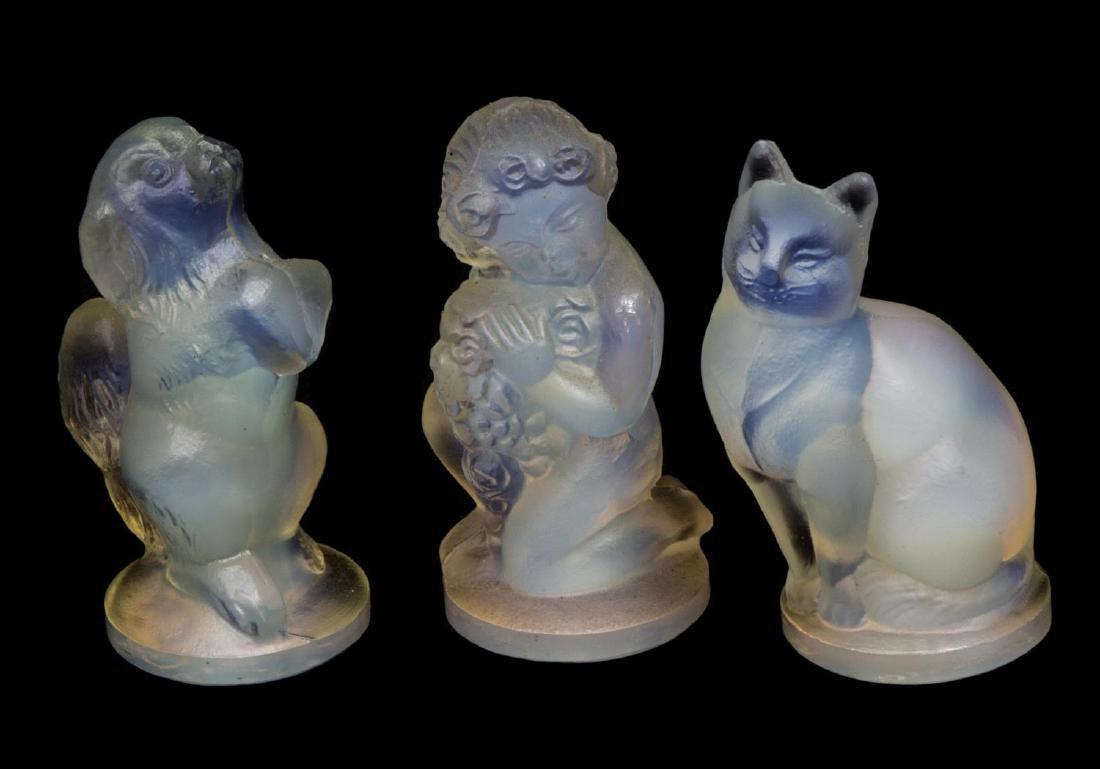 (6) SABINO ART GLASS PUTTI, BUTTERFLIES, DOG & CAT - 2