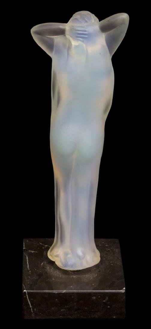 (2) LALIQUE ART CRYSTAL & OPALESCENT GLASS NUDES - 5
