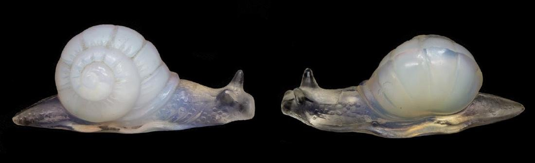 (5)SABINO OPALESCENT ART GLASS SHELL, FISH, SNAILS - 4