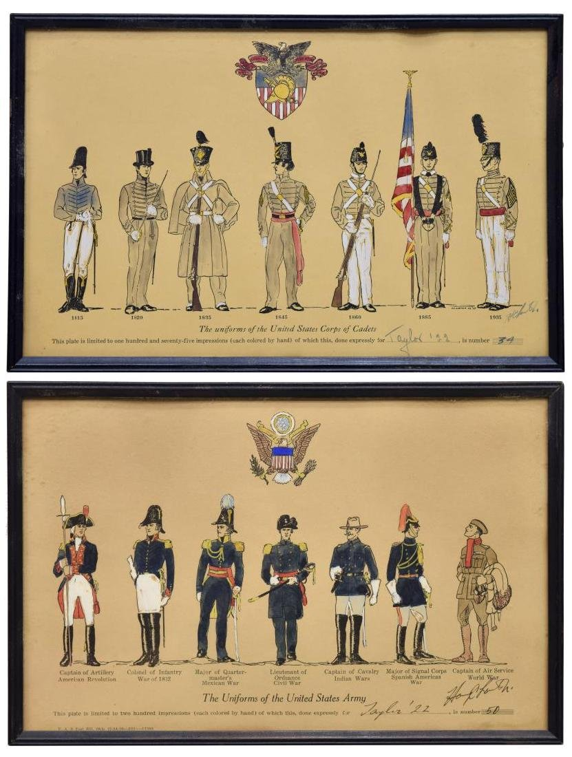 LIMITED 1925 PRINTS, MILITARY UNIFORMS, WEST POINT