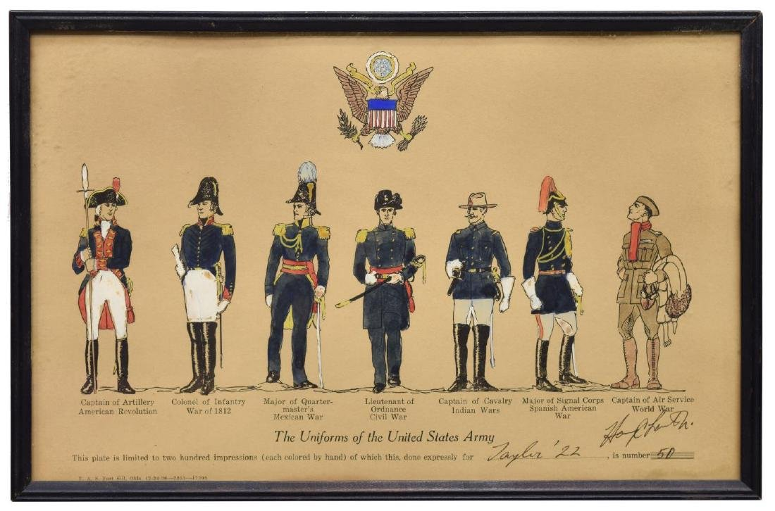 LIMITED 1925 PRINTS, MILITARY UNIFORMS, WEST POINT - 2