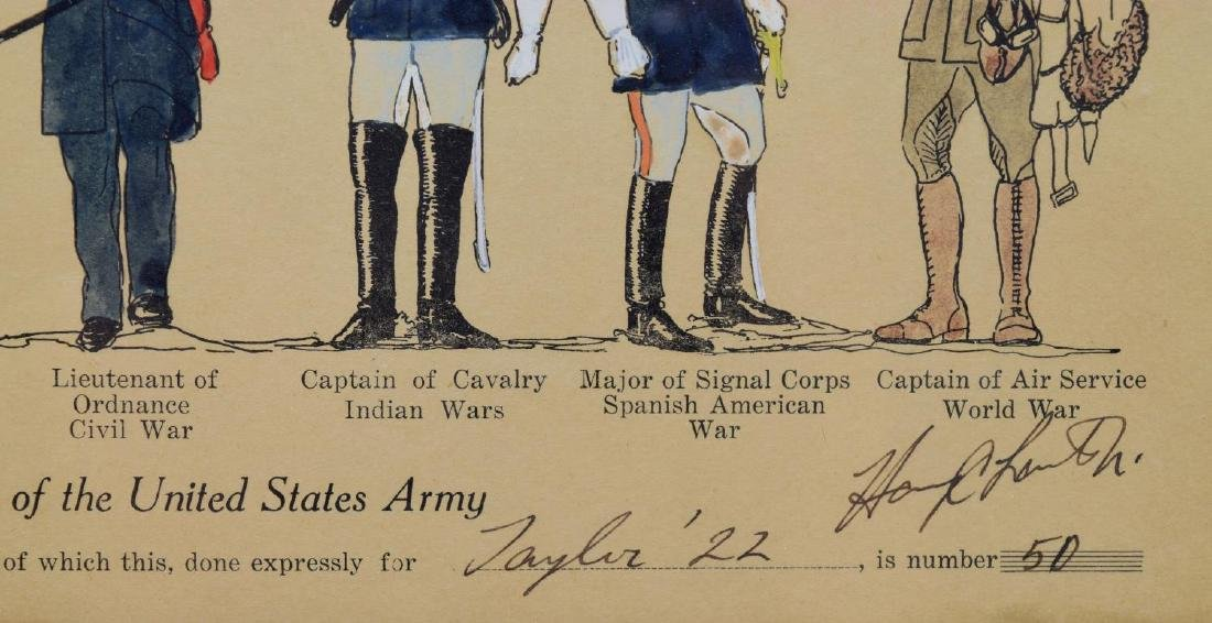 LIMITED 1925 PRINTS, MILITARY UNIFORMS, WEST POINT - 3