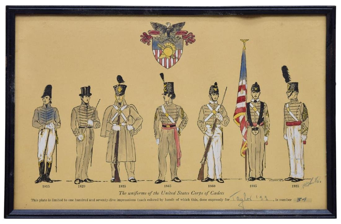 LIMITED 1925 PRINTS, MILITARY UNIFORMS, WEST POINT - 4