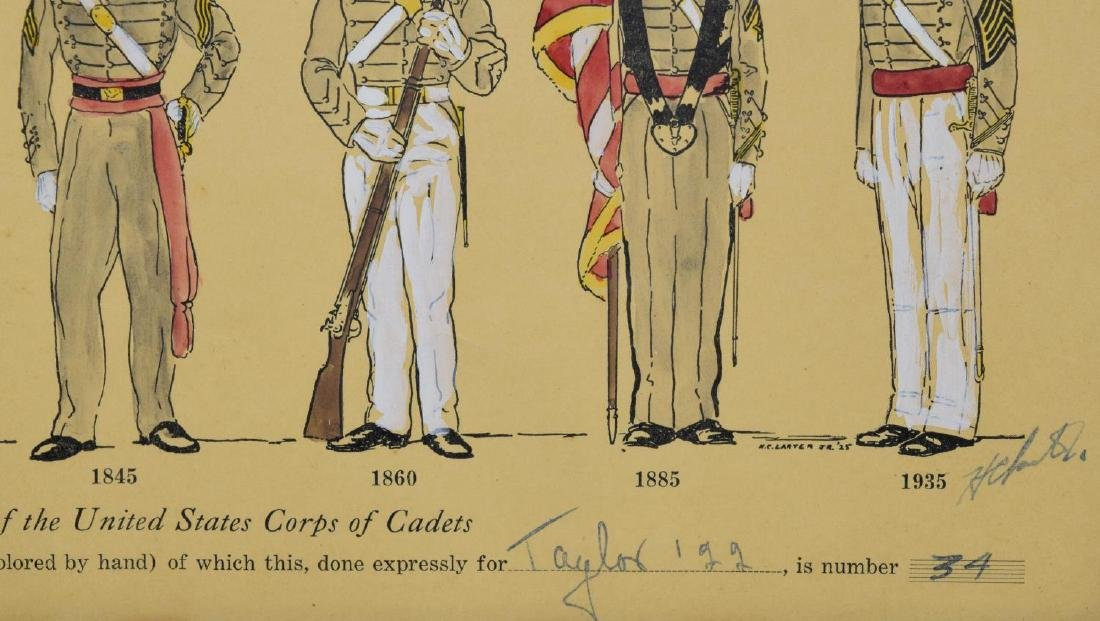 LIMITED 1925 PRINTS, MILITARY UNIFORMS, WEST POINT - 5
