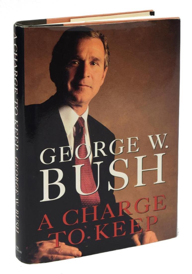 "AUTOGRAPHED BOOK: ""A CHARGE TO KEEP"" GEORGE W BUSH"