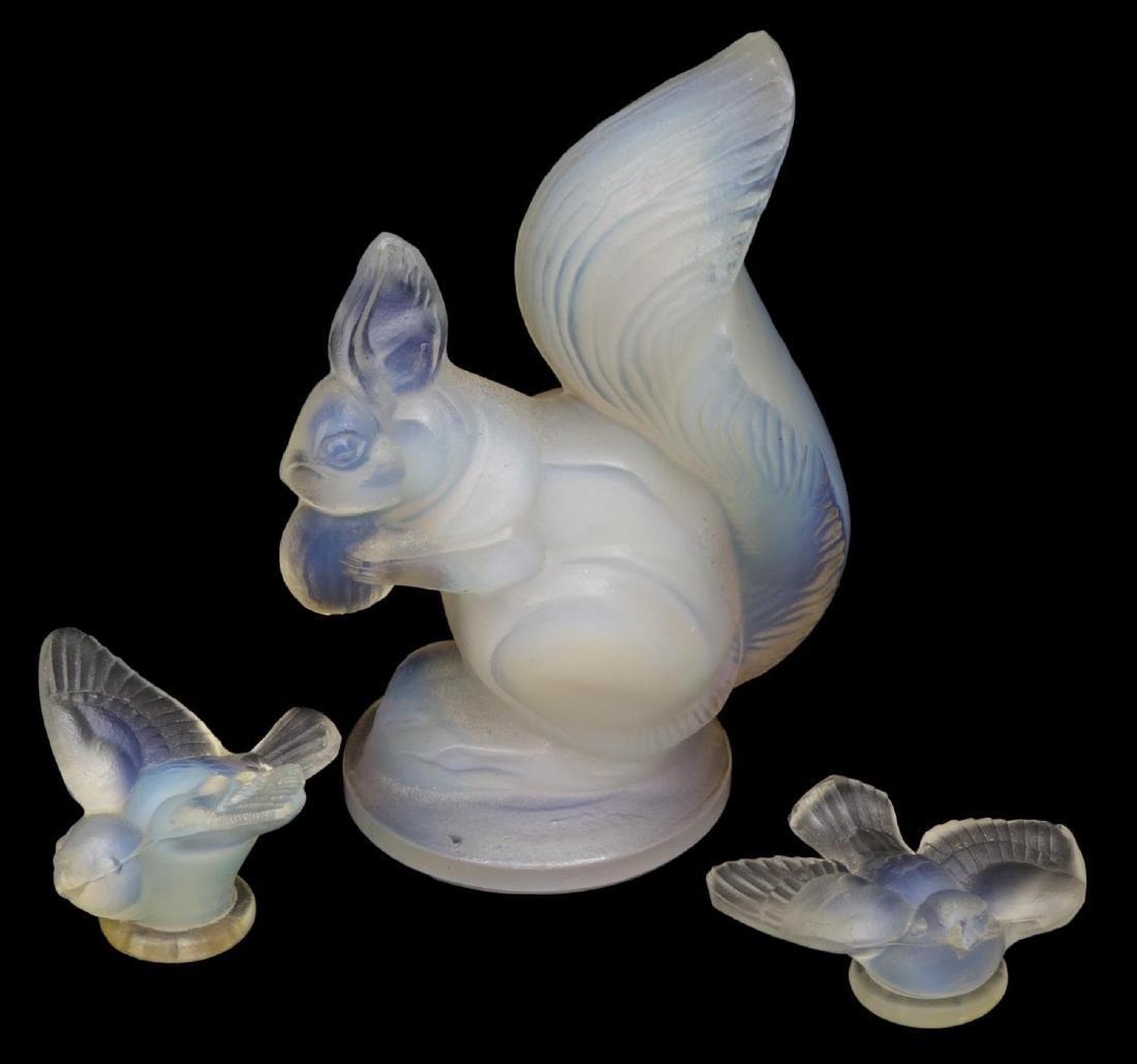 (7) SABINO OPALESCENT ART GLASS ELEPHANTS, TURKEYS - 2