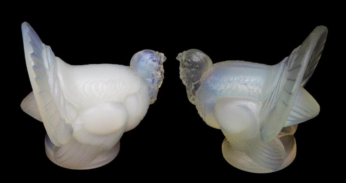 (7) SABINO OPALESCENT ART GLASS ELEPHANTS, TURKEYS - 5