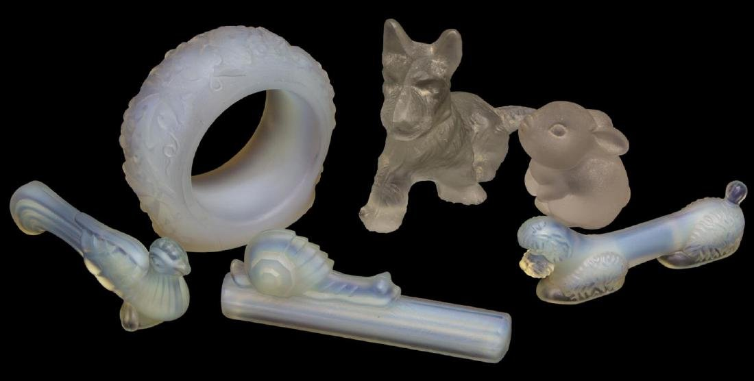 (6) SABINO & OTHER ART GLASS ANIMALS & PAPERWEIGHT