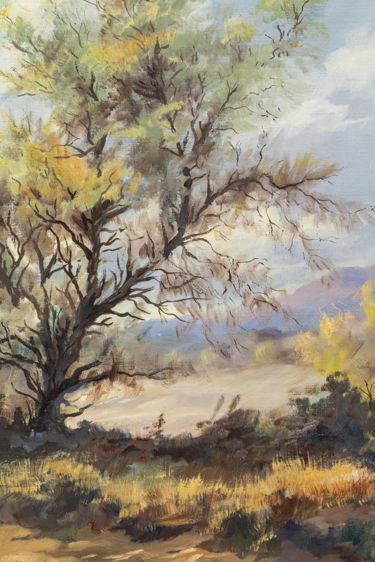 GEORGE WHITE PAINTING ON CANVAS, TREED LANDSCAPE - 3
