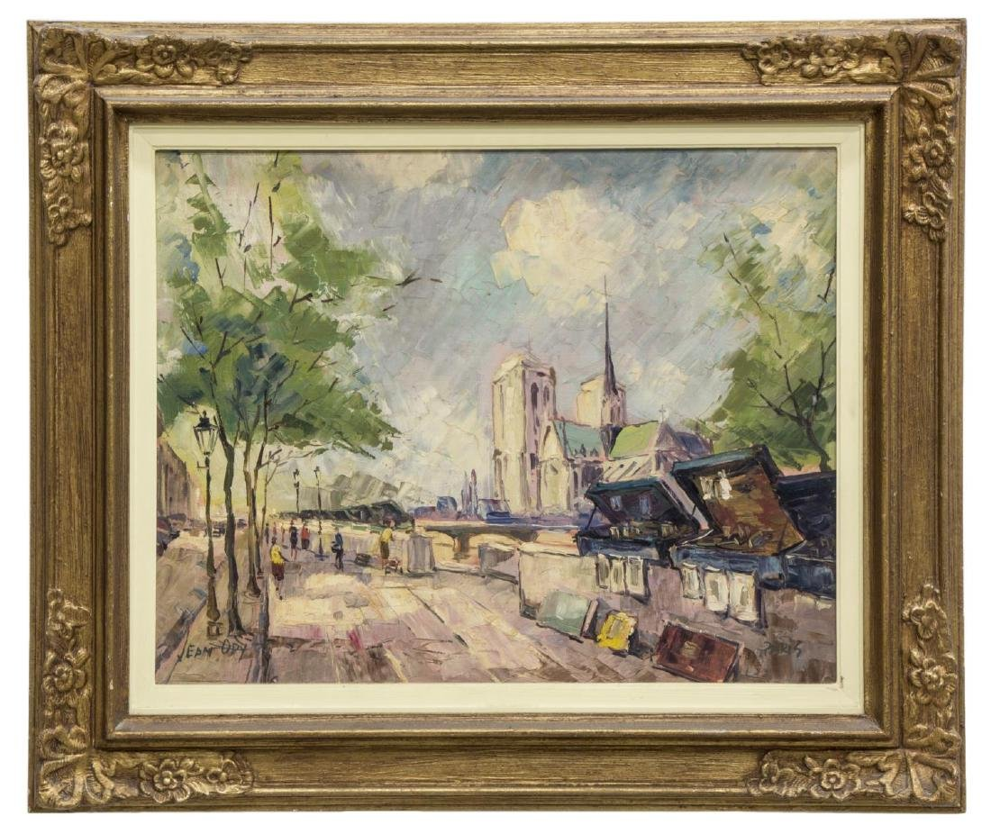 """JEAN ODY PAINTING ON BOARD, """"PARIS"""" - 2"""