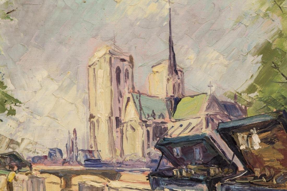 """JEAN ODY PAINTING ON BOARD, """"PARIS"""" - 3"""