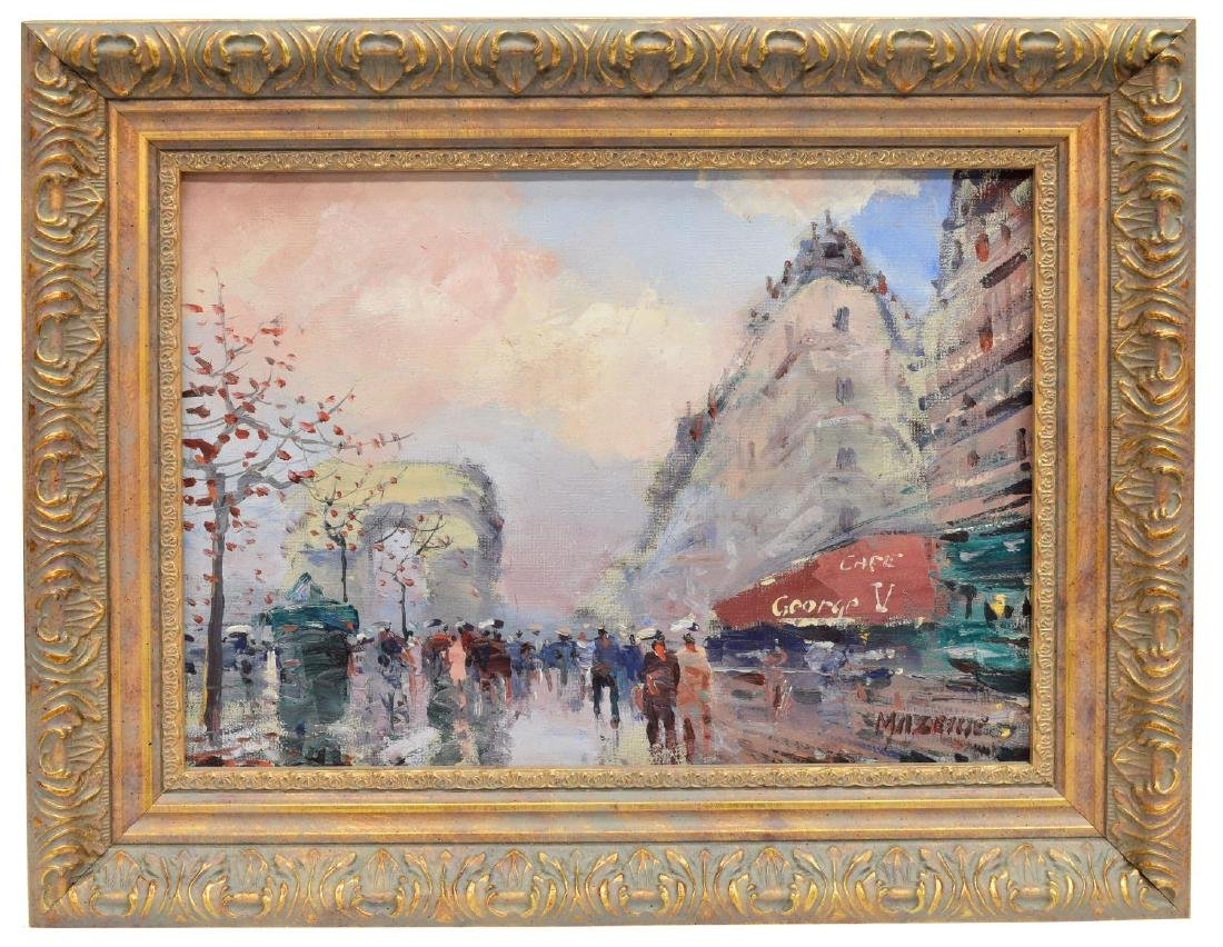 FRAMED PAINTING ON CANVAS, CHAMPS-ELYSEES IN PARIS