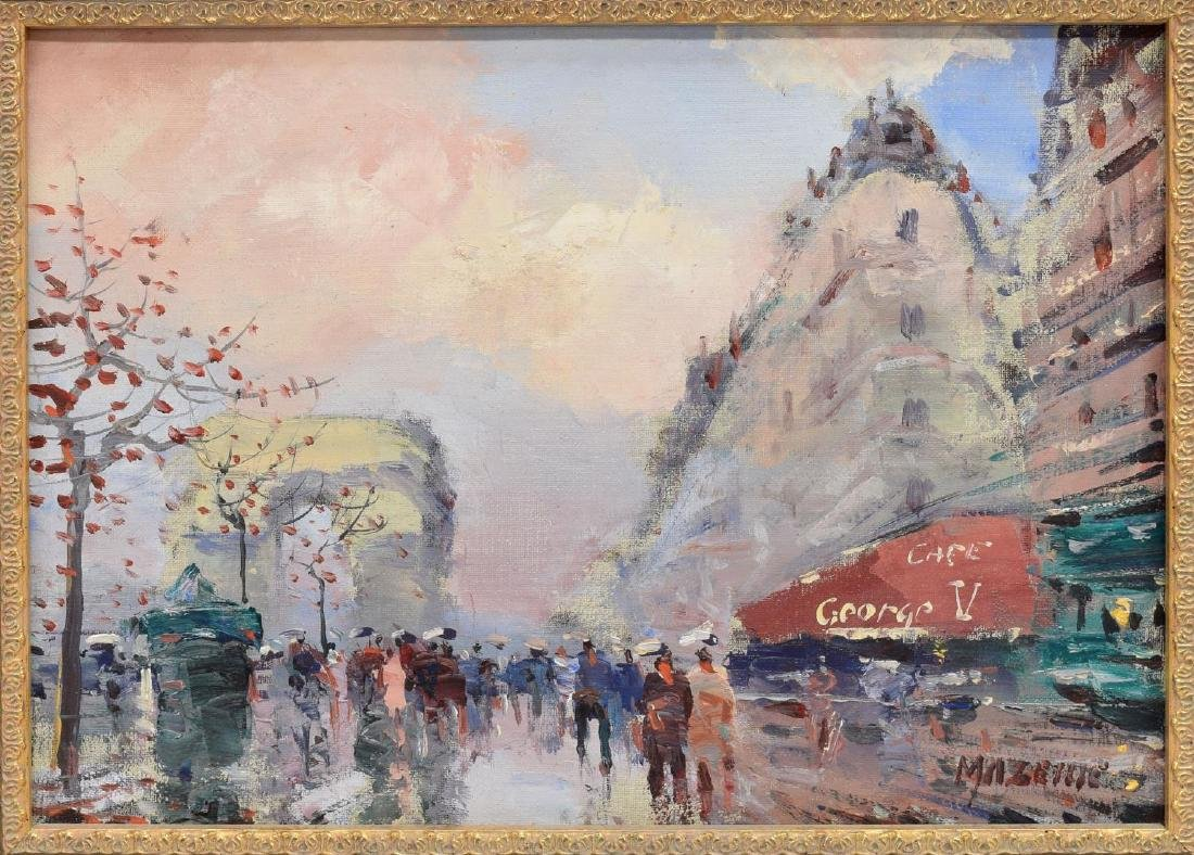 FRAMED PAINTING ON CANVAS, CHAMPS-ELYSEES IN PARIS - 2