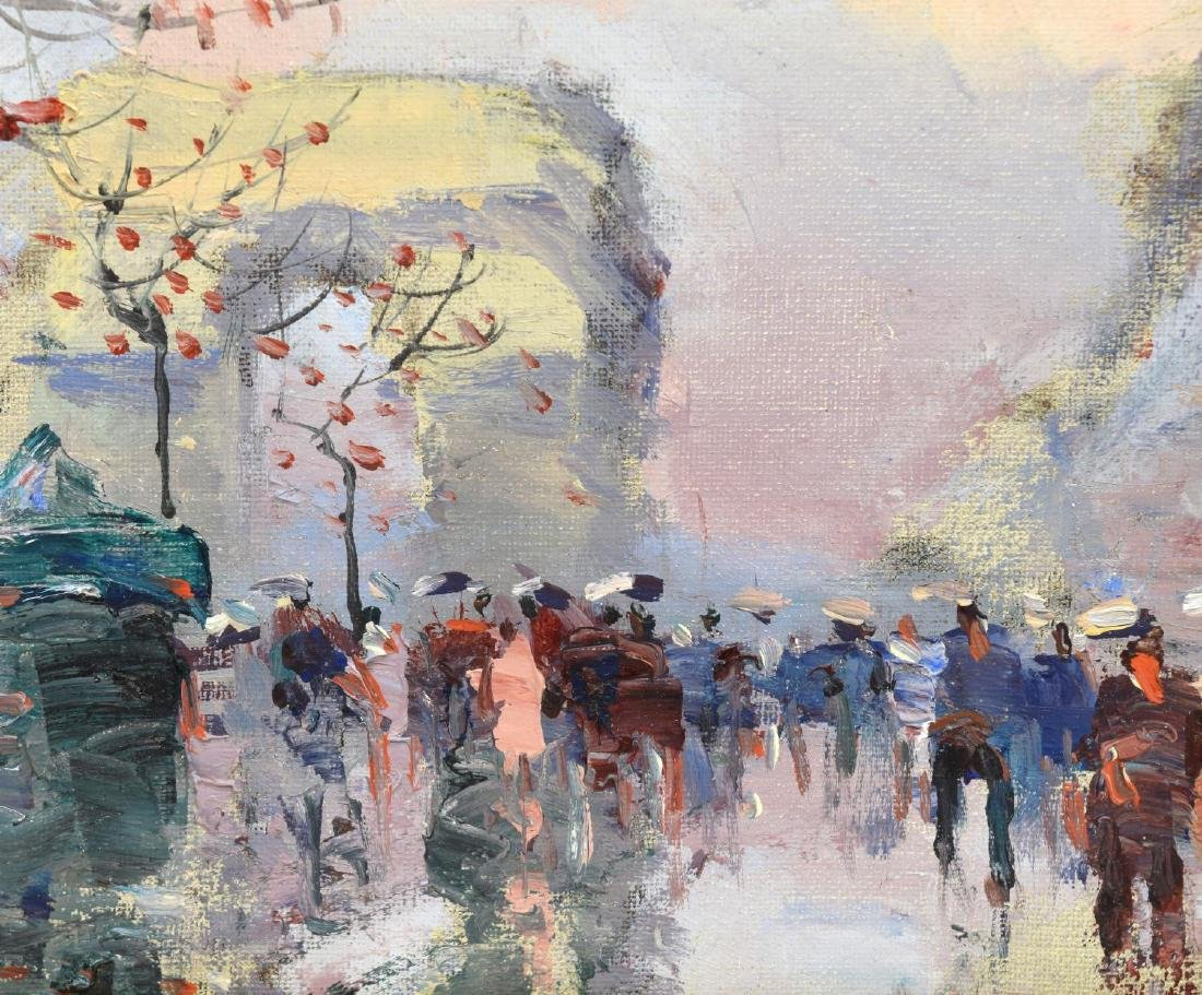 FRAMED PAINTING ON CANVAS, CHAMPS-ELYSEES IN PARIS - 3