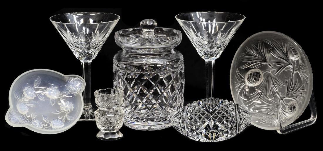 (7) ART GLASS & CRYSTAL GROUP, WATERFORD, ETLING