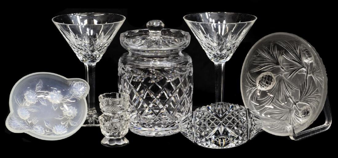 (7) ART GLASS & CRYSTAL GROUP, WATERFORD, ETLING