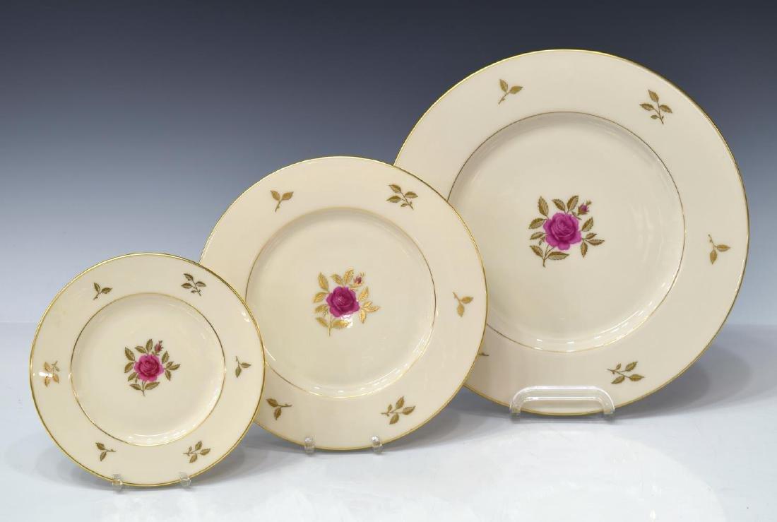 (38)LENOX RHODORA PARCEL GILT PORCELAIN DINNER SET - 2
