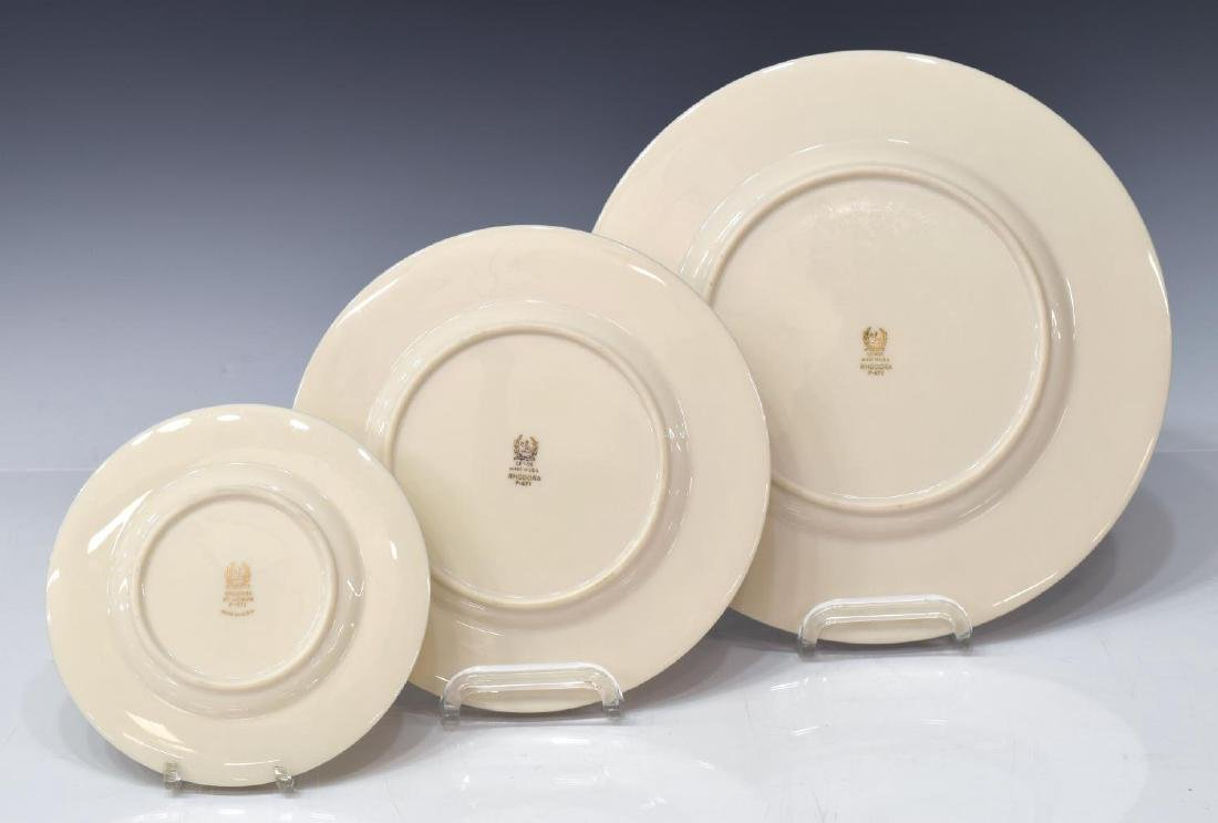 (38)LENOX RHODORA PARCEL GILT PORCELAIN DINNER SET - 3