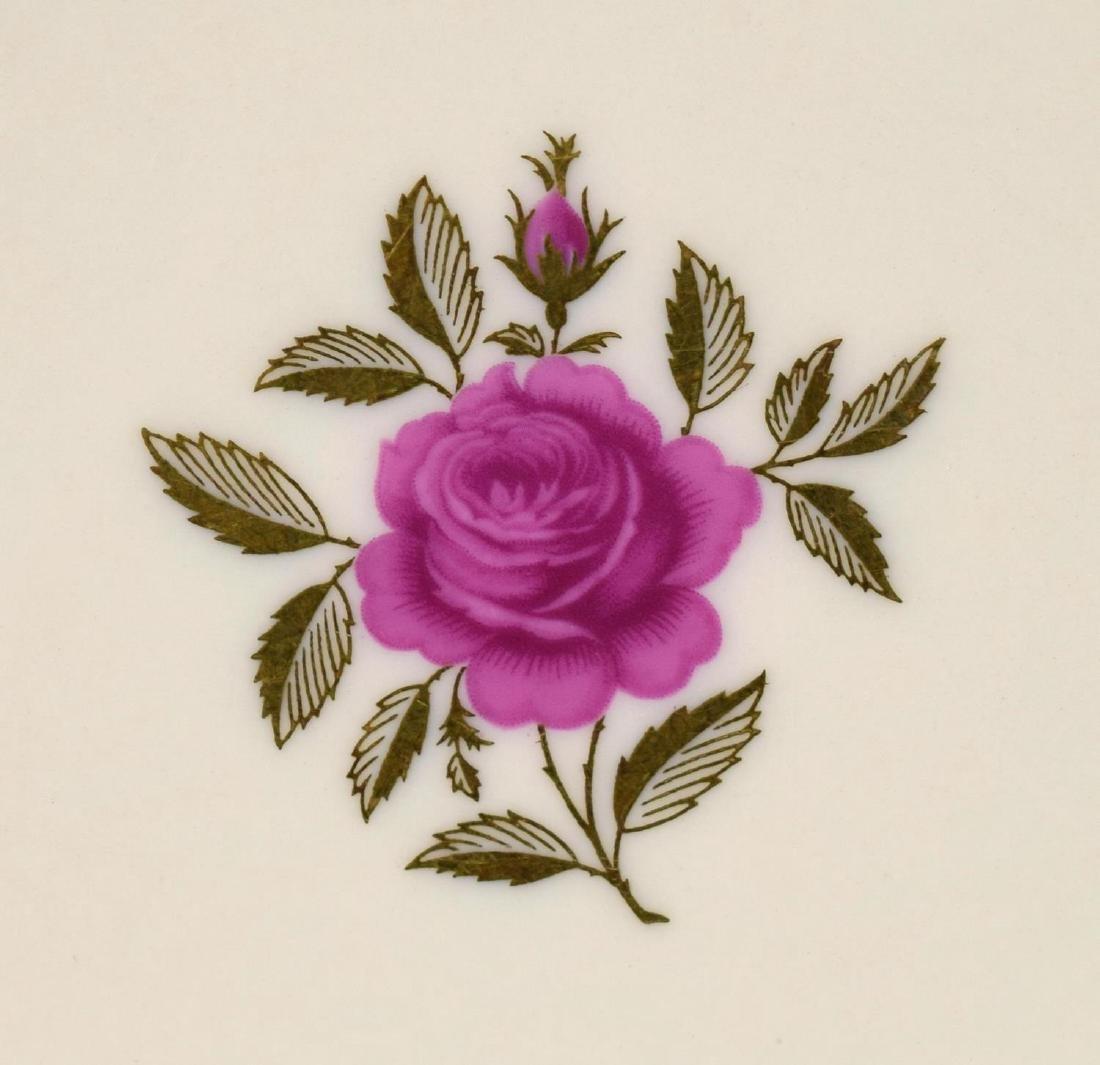 (38)LENOX RHODORA PARCEL GILT PORCELAIN DINNER SET - 6