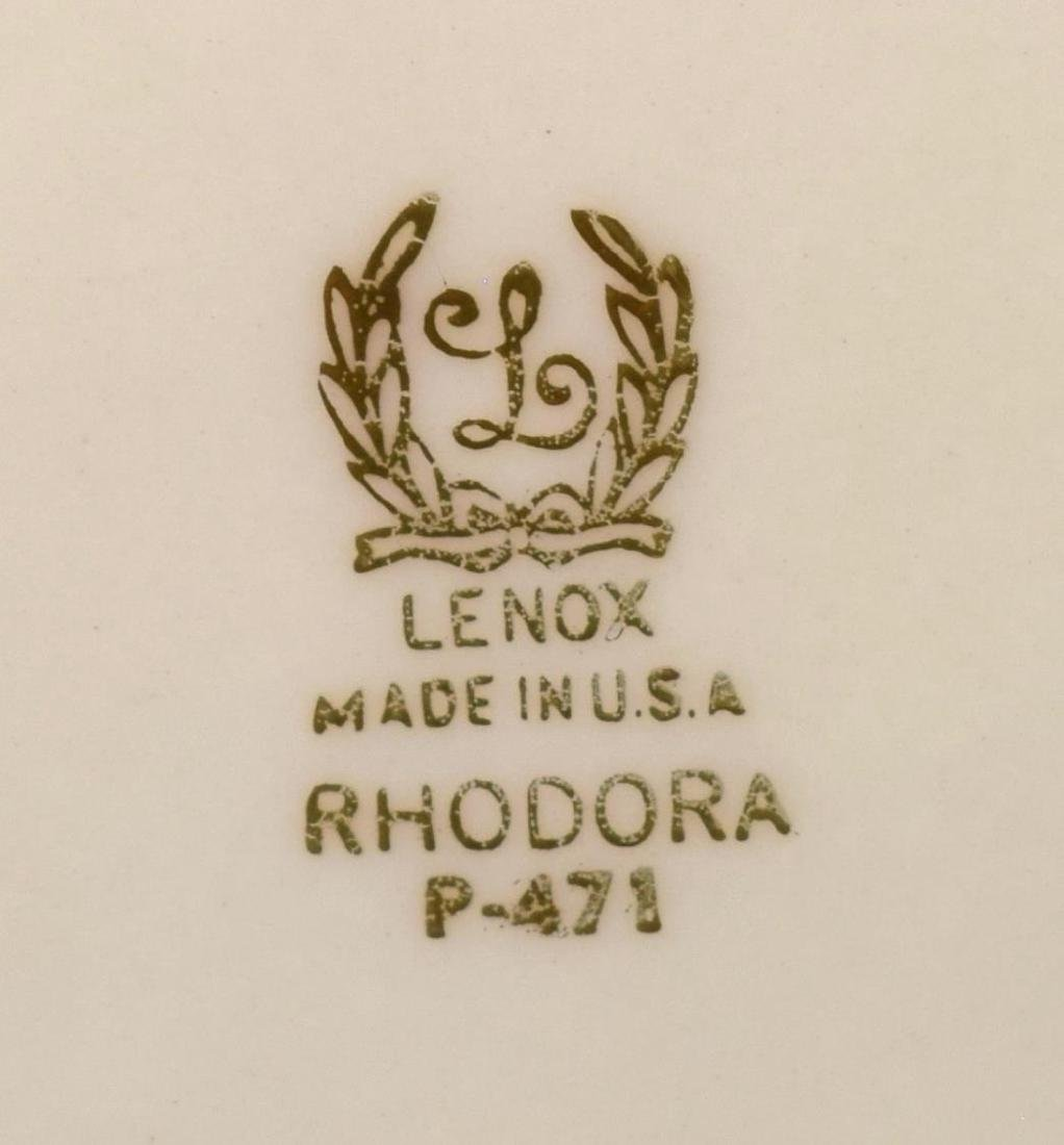 (38)LENOX RHODORA PARCEL GILT PORCELAIN DINNER SET - 7