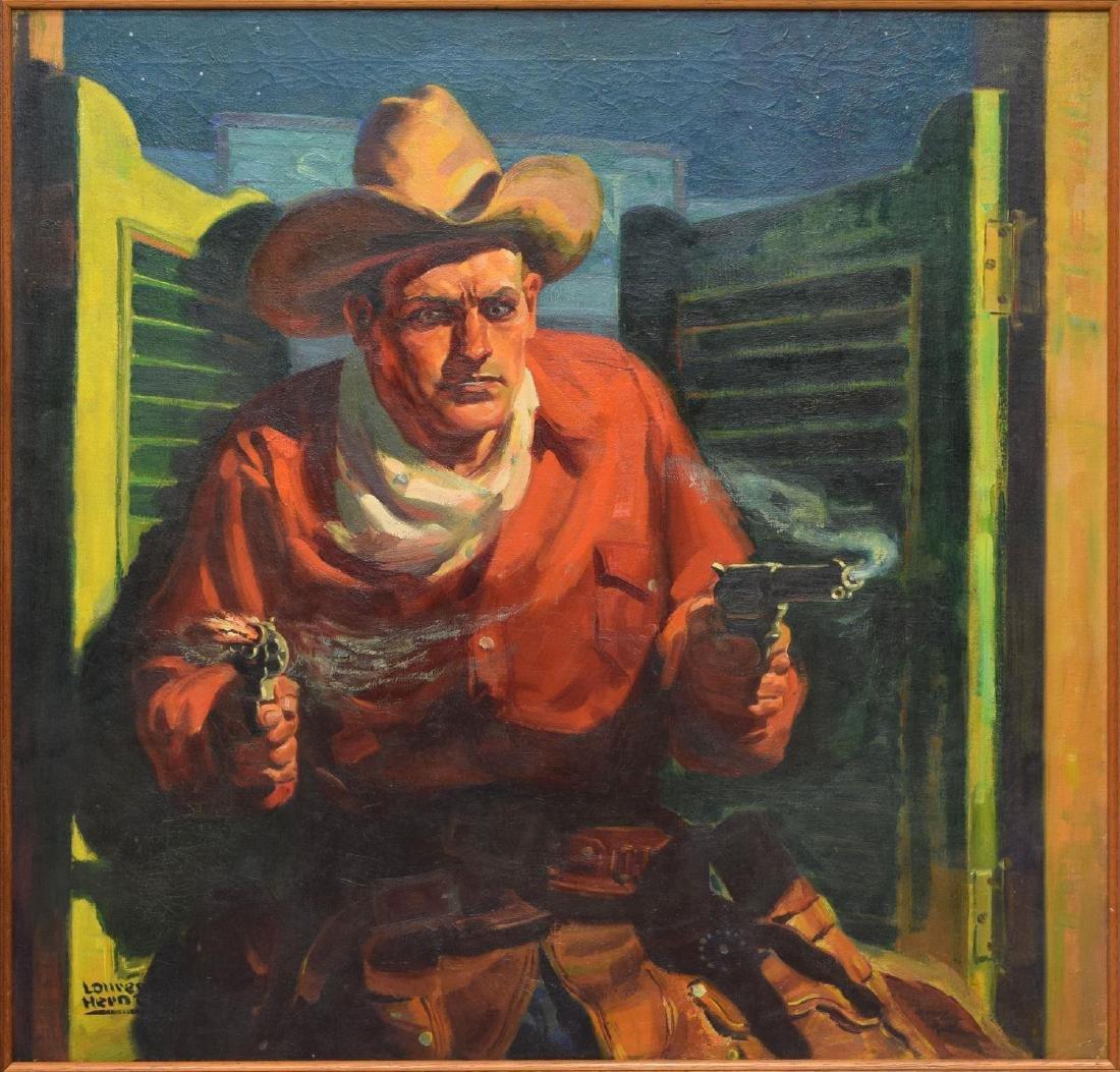 LAWRENCE HERNDON (1880-1961), WESTERN SIX SHOOTER
