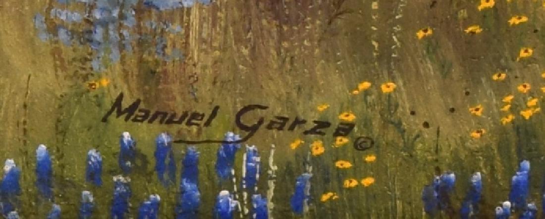 """MANUEL GARZA (B. 1940) TEXAS BLUEBONNETS 30""""x 24"""" - 4"""