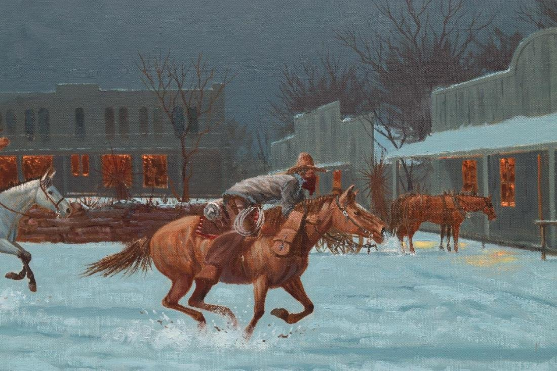 ROGER IKER (TEXAS), NIGHT RAIDERS WESTERN PAINTING - 3
