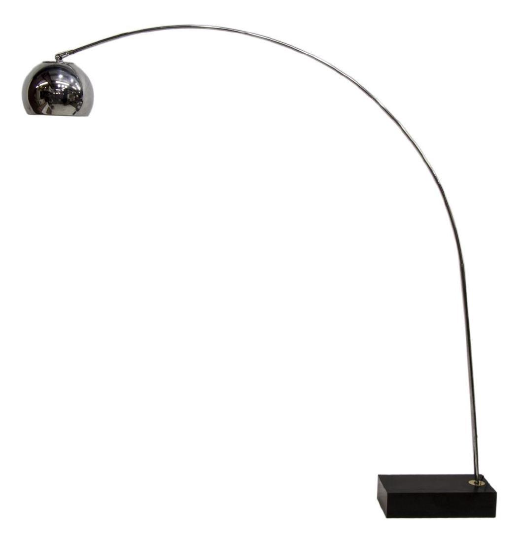 ITALIAN MODERN STAINLESS FLOOR LAMP - 2