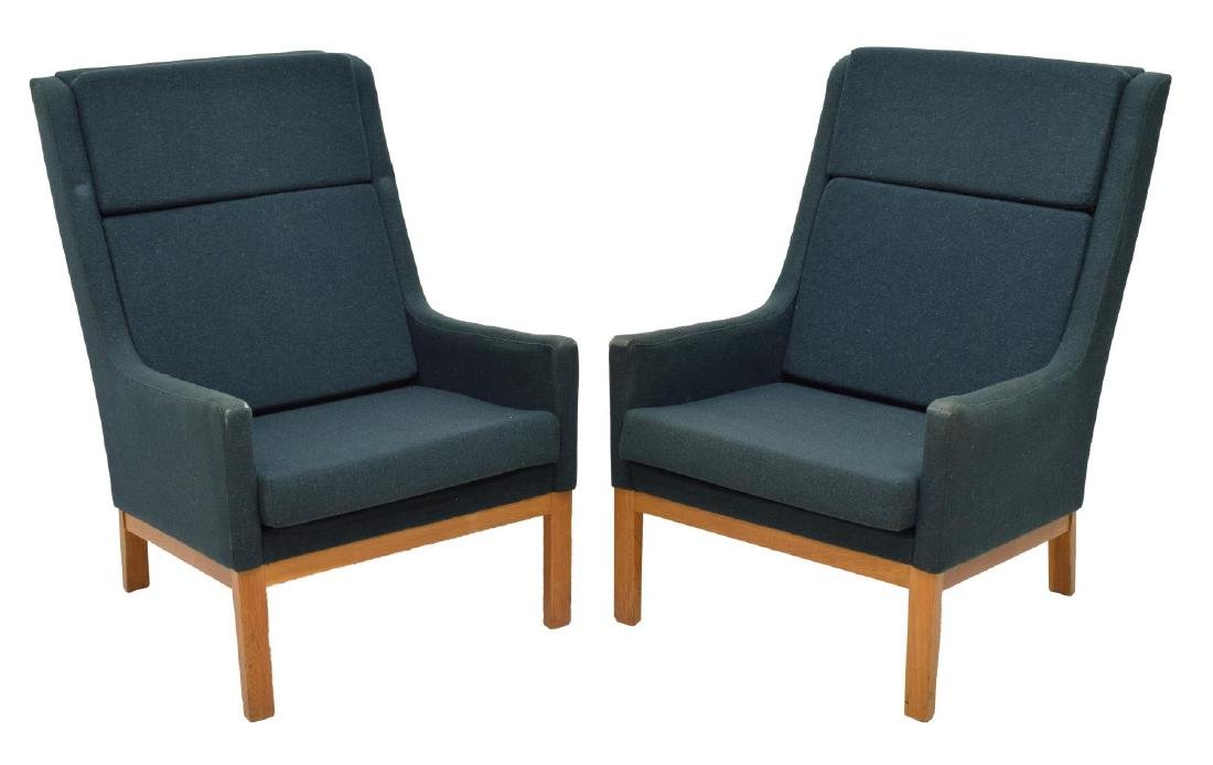 (2) DANISH MID-CENTURY MODERN ARM CHAIRS, LARSEN